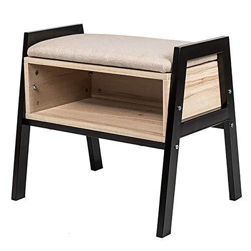 Huiseneu accent legno scaffali libreria autoportante per bambini student ad angolo e stretto cremagliera multifunzionale usato come scarpiera panca tavolo tavolino tavolino beside, confezione da 1