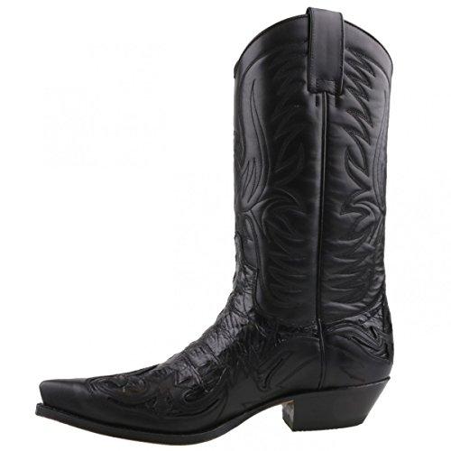 Sendra cowboystiefel 3241 pour homme noir Noir - Noir