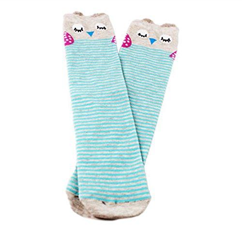 Zantec Mädchen Baumwolle Kniestrümpfe Cartoon Mitte der Wade Länge Socken bunte Idylle Stil (Der Wade-socken Mitte Kleid)