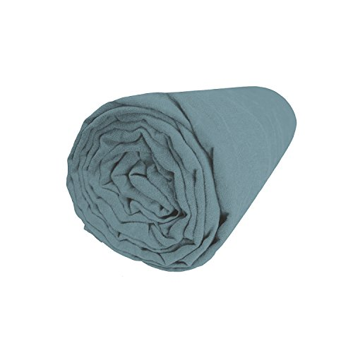 BLANC CERISE Drap housse en lin lavé véritable, bonnet 37 180x200 cm
