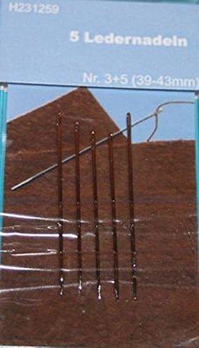TSL Leder Nadeln, Silber, 5-teilig