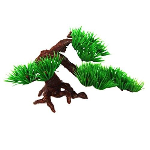Gazechimp Grün Kiefer Design , Künstliche Pflanze Plastikpflanze Kunstpflanze Für Aquarium Tank Dekoration - Grün, S