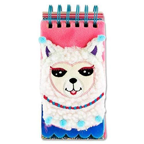 Stitch Premier Emotionery 16 x 9 cm 500pg Spirale en Peluche Fluffy Ordinateur Portable - Lama