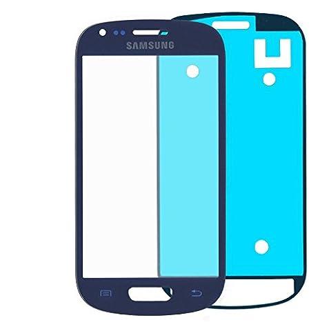 Samsung Galaxy S3Mini i8190en Bleu Verre: Kit de réparation * NOUVEAU * avec vitre en verre et adhésif, film Blue, vitre, film de Glass Repair Kit complet pour S3Mini, Pièce de Rechange pour vitre en verre