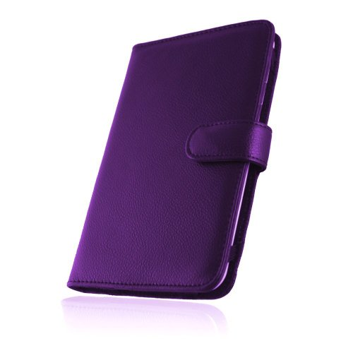 """Navitech Custodia Porpora in Pelle Bycast con funzione stand regolabile per il Kindle Fire 7 Pollici """" Amazon Wi-Fi Tablet (Si prega di notare che questa custodia non è adatta al Kindle Fire HD)"""