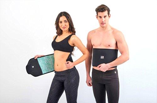 FIR TECH Schwitzgürtel | Fitnessgürtel | Bauchweggürtel für Eine schmalle Taille Zum Abhnehmen (Medium)