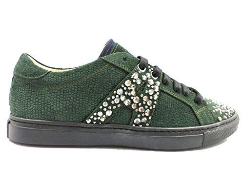 ALESSANDRO DELL'ACQUA sneakers donna verde camoscio (38 EU)