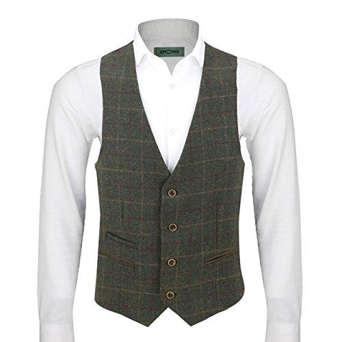 Xposed Herren Anzugjacke * One size Waistcoat-PWC-Olive Green