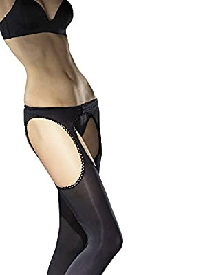Fiore Luxury Super Fine 60 Denier Sheer Suspender Tights - Available in Black, White or Red