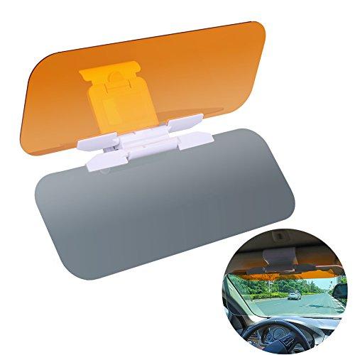 Auto Blendschutz,Blendschutz Auto Sonnenblende 2 in 1 Tag Und Nacht Fahren Sonnenblende mit Einstelltaste Blendschutz Anti-UV Abblendbar