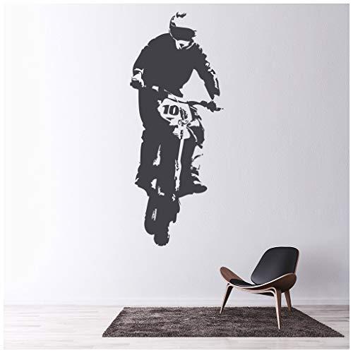 azutura Motorrad Wandtattoo Dirt Bike Jump Wand Sticker Jungen Schlafzimmer Haus Dekor verfügbar in 5 Größen und 25 Farben X-Groß Gold Metallic (Dirt Bike Gold)