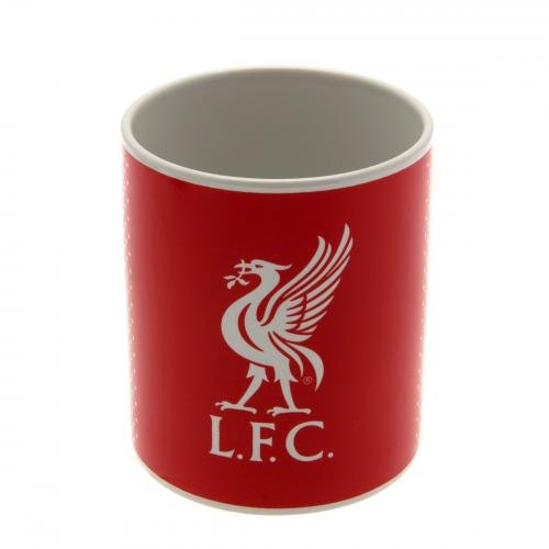 Liverpool FC rouge design fondu blanc cadeau football tasse officielle en boîte