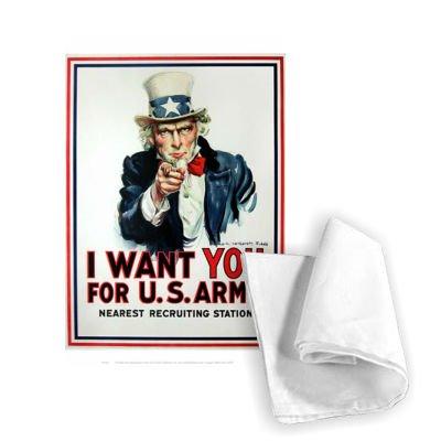 """Art247 WAWW005TT bedrucktes Geschirrtuch / Küchentuch, 46 x 70 cm, 100% Baumwolle mit Motiv: """"I Want You for U.S. Army"""""""