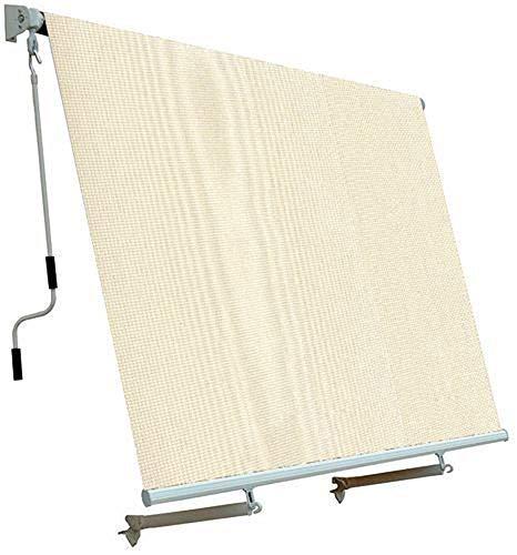 Megashopitalia Tenda da Sole da Esterno per Balcone con Sistema a Caduta Veranda con Bracci in Alluminio (250X250CM)