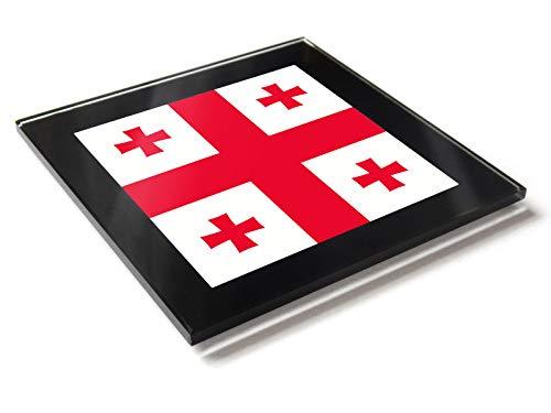 r mit Flagge von Georgien, Nationalfarben ()
