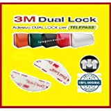StickersLab - Dual lock SJ 3560 3M velcro adesivo singoli sagomati per Telepass parabrezza auto (Quantità - 2 pezzi (48mm x 18mm))