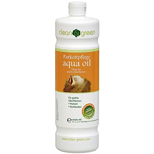 clean & green Parkettpflege aqua oil,  1 Liter