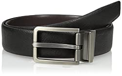Van Heusen Mens Mens Leather Gunmetal Reversible Belt