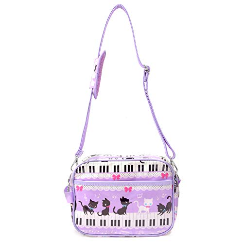 Black cat waltz to dance on top of the bag going to kindergarten kids piano shoulder bag (pink) made in Japan N0515300 (japan import)