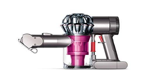 Dyson V6 Trigger Plus - Aspiradora de mano con 2 modos de aspiración, 350 W de potencia, 28/100 W de succión, color rosa y plata