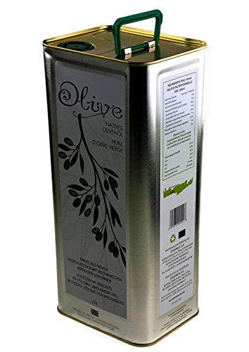 KretaNatura Natives Olivenöl Kaltgepresst & Filtriert | 100% natürliches & reines Olivenöl für Feinschmecker - Kreta, Griechenland | sortenreine Koroneiki Oliven | 5 Liter Kanister (Olivenöl Paleo)
