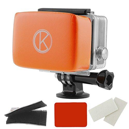 CamKix Flotteur pour GoPro - Flotteur Amovible Pour Porte Arrière de GoPro - Inclut un Adhésif Étanche, 1 scratch Étanche Haute Qualité, 1 Kit Anti-Buée - Compatible avec Caméra GoPro Hero 4, 3+, 3, 2, 1