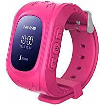 Wayona Kids Tracker Smart Wrist Watch with GPS & GSM System with Functions (Children Safe Security/SOS Surveillance/Pedometer/Remote Power Off/Alarms Anti-Lost for Children) - Pink