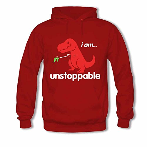 Womens Hooded Sweatshirt - Dinosaur I am Unstoppable Cotton Hoodies 3XL