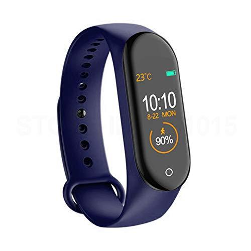 9302sonoaud M4 Braccialetto Intelligente di Sport del pedometro del Monitor di frequenza cardiaca dello Schermo a Colori Impermeabile Blu