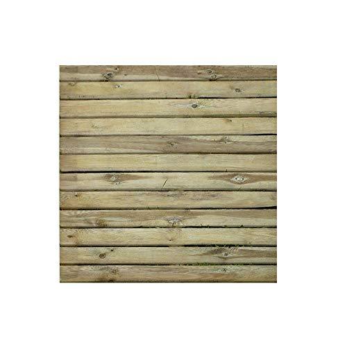 Solid Mattonella zigrinata Pavimento da Esterno 100x100 Pino tratttato per Esterno Spessore 3,2 cm - Ideale per Giardino, terrazzo e sentieri
