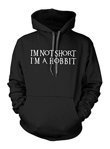 Preisvergleich Produktbild I'm Not Short I'm A Hobbit Komisch Zitat Hoodie Sweatshirt Schwarz Small