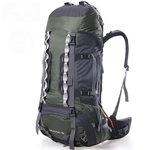 GUOQI Zaino Poliammide Materiale Uomo E Donna Alpinismo Verde Professionale Outdoor 75L capacità Alpinismo Bag