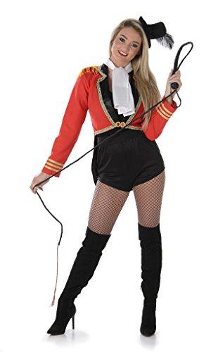 Karnevals Ringmaster Damen Zirkus Löwe Zahmer Frauen Erwachsen Kostüm (Large European 44 - 46 (UK 16 - 18))