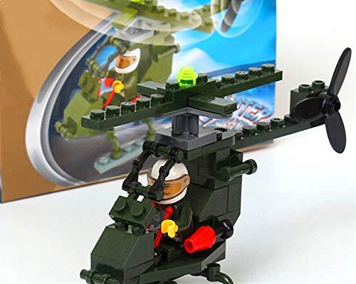 Bloques de construcción educativos para niños juguetes que ensamblan bloques de construcción de plástico niños y niñas juguetes jardín de infantes regalo de vacaciones helicóptero de juguete