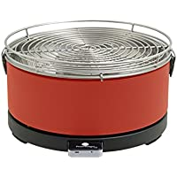 Feuerdesign Mayon Parrilla Mesa Carbón vegetal Rojo - Barbacoa (Parrilla, Carbón vegetal, 4