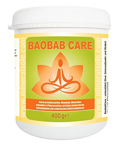 BAOBABCARE® I 400g Pulver I unterstützt Ihre Immunabwehr und fördert eine gute Stimmungslage mit Bacillus Sibtilis DSM 21097 -