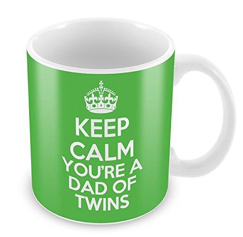 Vert KEEP CALM You're a Dad de jumeaux Mug Tasse à café cadeau idée cadeau
