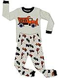 Elowel Kinder Jungen 6 M-8 Jahre Zweiteilger Schlafanzug Sandwagen Slim Fit 100% Baumwolle 104/4 Jahre
