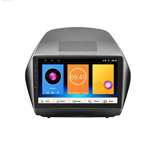 Hahaiyu 10-Zoll-Auto-Stereo-Player Android 7.1 MP5 im Dash-GPS-Radio Stereo 2-Din-IPS-Touchscreen, WiFi, Bluetooth, Rückansicht für Hyundai IX35 2010-2015