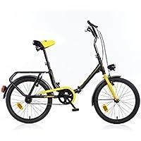 Dino Bikes 321-04 Infantil Unisex Recreación Metal Negro bicicletta - Bicicleta (Plegado,