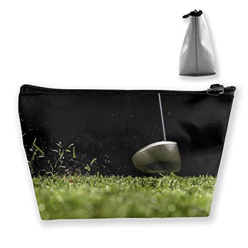 Trapez-Kulturbeutel Tragbare Reisetasche Golf Hitting Cosmetic Bags