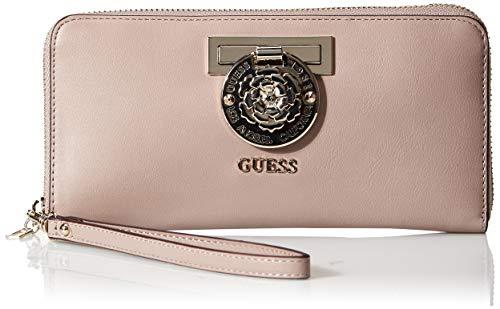 Guess Damen Large Zip Around Wallet Marlene-Große Brieftasche mit Rundum-Reißverschluss, Taupe, Einheitsgröße