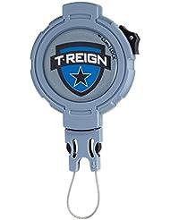 T-Reign Schlüsselrolle Seillänge 120 cm Kevlar metall clip 360 drehbar blau, TR - HDCL