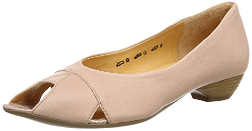THINK! Fesh Pumps, Damen Peep-Toe Pumps, Beige (PUDER/KOMBI 39), 41 EU
