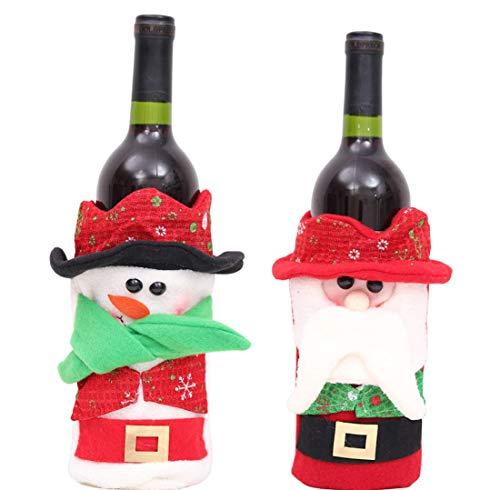 Champagner Wein Strick Wein-Set/Weihnachts-Flasche-Set/Champagner-Wein Gestrickte...