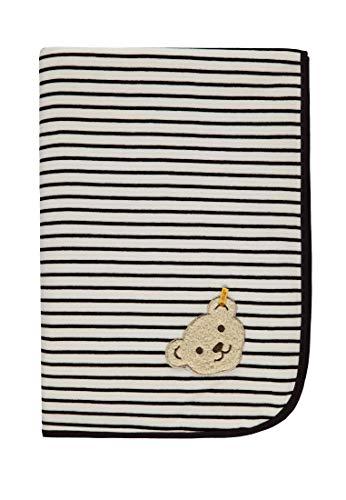 Steiff Unisex Baby Decke Nicky Schlafsack, Blau (Marine|Blue 3032), One Size (Herstellergröße: 00)