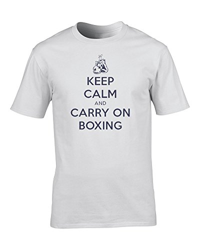 Keep Calm and Carry ON Boxing, Sports Fighting war Poster Parody Youth T-Shirt