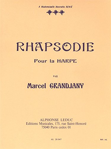 Marcel Grandjany: Rhapsodie for Harp