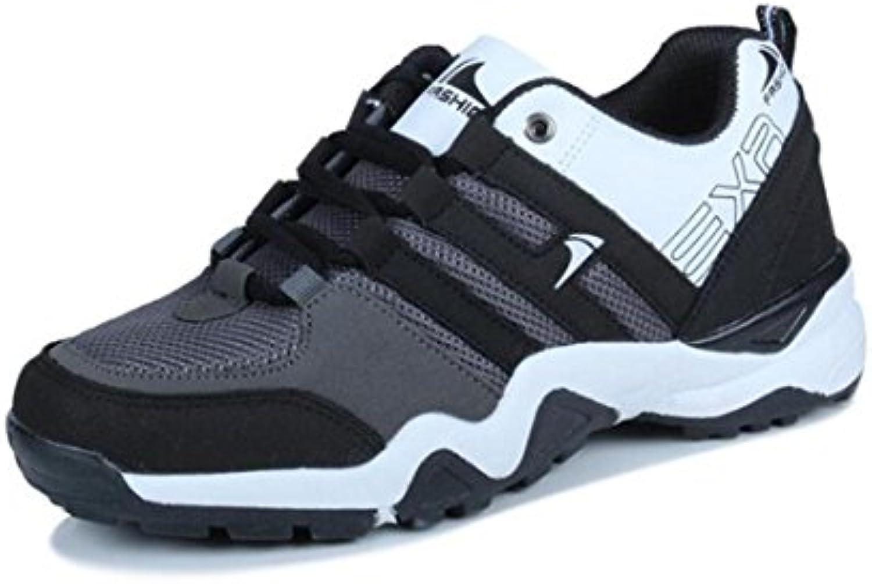Otoño sportschuhe herrenlaufschuhe Malla Casual Guantes transpirable zapatillas Hombres Modelos, negro y blanco