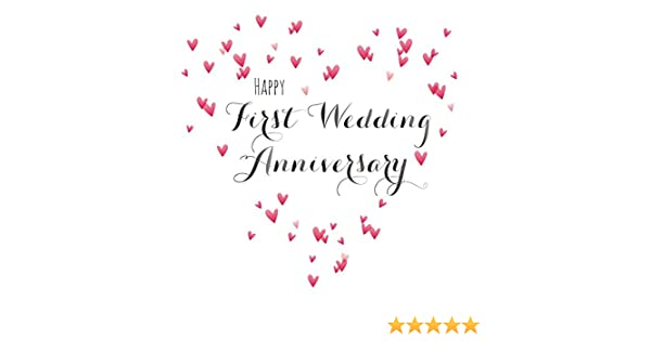 Wedding Anniversary Images.Claire Giles Quill Happy First Wedding Anniversary Anniversary Card